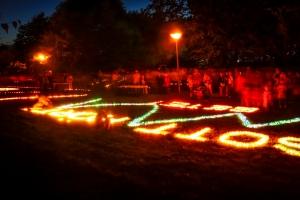 Lichterfest Lindlar Aufbau